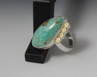 Sale Mixed MetalTurquoise Ring Size 7.5