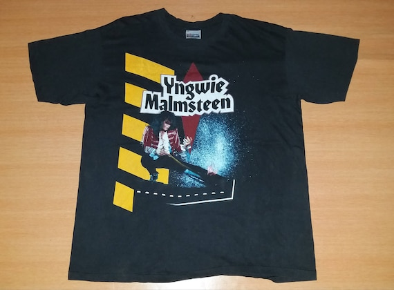 very Concert T 80s US Tour MALMSTEEN shirt 1990 YNGWIE Eclipse T Vintage shirt promo rare YCw8gqn
