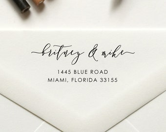 Stamp, Return Address Stamp, Custom Self Inking / Rubber Stamp, Housewarming, Wedding, Save the Date - No. 87