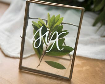 Rent These Framed Table Numbers! - Hawaii Calligraphy