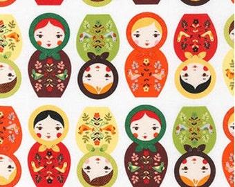 Nature Matryoshka Dolls From Robert Kaufman's Little Kukla Collection by Suzy Ultman