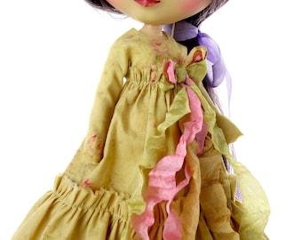 Blythe. Blythe dress. Blythe Victorian, Pullip, Blythe boho, Blythe shabby dress, Blythe gown, Blythe vintage. by TheDollsDresser