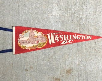 Vintage Full Size Pennant - Washington DC