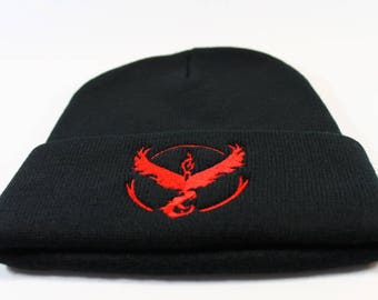 Pokemon Go Team Valor Embroidered Beanie