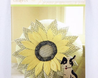 Anna Griffin Sunflower Pillow Pattern designed by me