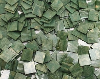Resin mosaic tiles, 15x15 mm, Marble effect, Loden Frost