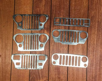 "Jeep offroad 5"" grill wall/garage ornament art"