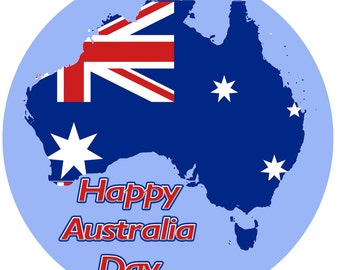 Australia Day Real Icing Cake Topper multiple sizes availalble