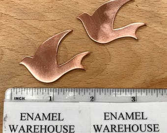 BIRD TWO Quantity 2 Copper shapes for enameling
