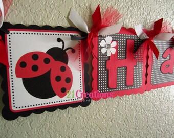 Ladybug Party Banner