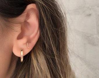Small Gold Hoops-dainty earrings, minimalist earrings, minimal earrings, gold earrings, tiny gold hoops, small hoop earrings