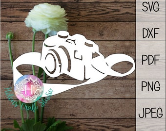 Camera svg, camera cutting file for cricut cut and silhouette files, photographer svg camera monogram, Camera DXF, Dad SVG, photography svg