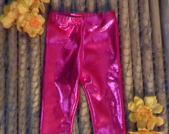 3-6 months to 5T Hot pink mystique spandex kids play pants leggings, childs clothes, toddlers
