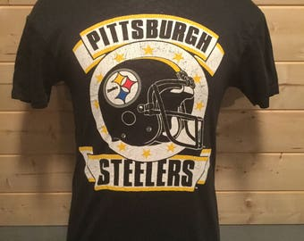 Vintage 1980's Pittsburgh Steelers 50/50  T-Shirt
