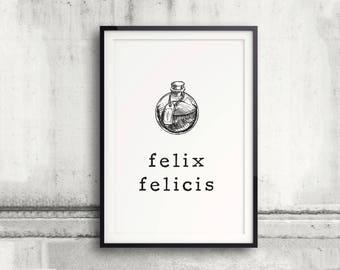 Felix Felicis Poster, Harry Potter Poster, Harry Potter Print, Harry Potter Spell, Liquid Luck, Good Luck Gift