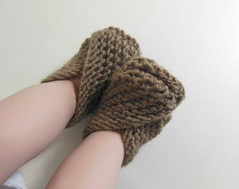 Custom Made Set of Infant Knit Booties, Socks, Slippers, Shoes in Many Available Colors