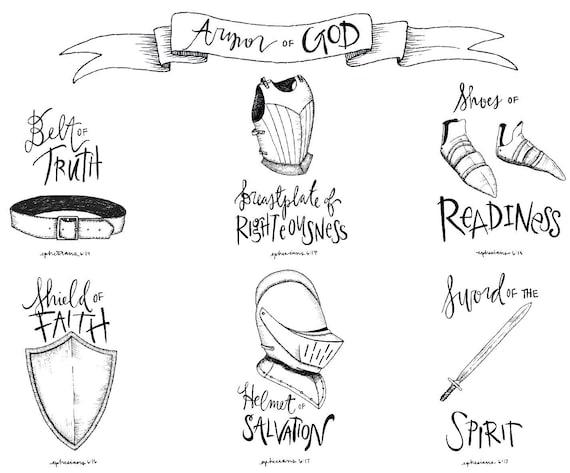 Armor of God illustration 8.5x11 download