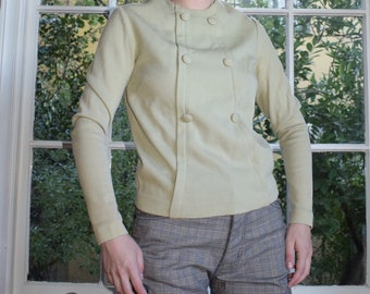 Mossy Taupe Wool Sweater