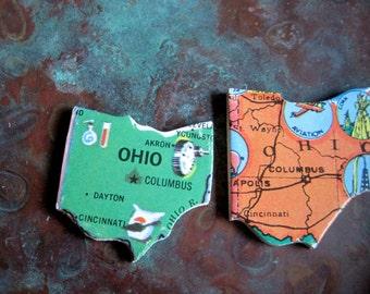 OHIO Vintage puzzle pieces- set of 2