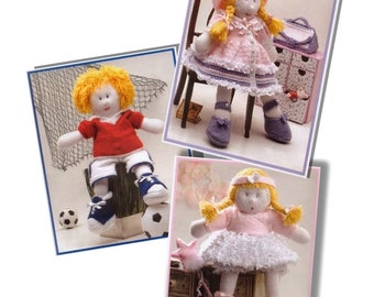 Boy and Girl Kid dolls to knit