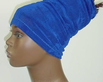 HeadBand-HeadTube-Natural Hair Accessories-Head wrap - Headwrap - Locs-Sapphire Royal Blue