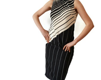 Ferre Dress/ 100% Silk Dress /Silky Minimalist Dress /Designer Maxi Dress / Gianfranco Ferre Minimal Dress/90s Designer Couture Runway