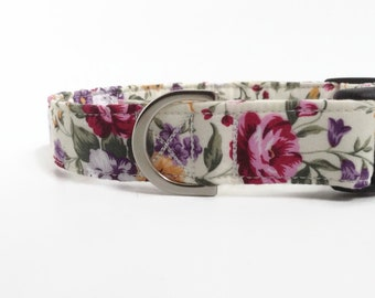 Wildflower Floral Dog Collar | Floral Dog Collar | Girl Dog Collar | Puppy Collar | Rose Dog Collar | Small Dog Collar | Wildflowers