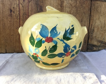 Vintage Nelson McCoy Handpainted Round Ball Shaped Cookie Jar