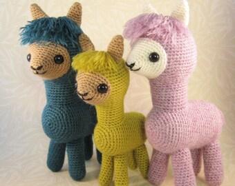 Alpaca Family Amigurumi Pattern PDF - Crochet Pattern