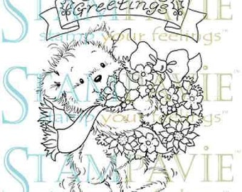 Laurence collection- seasons greeting clear photopolymer stamp