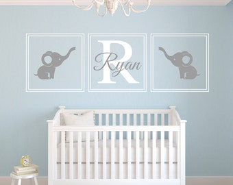 Charming Custom Name Wall Decal   Elephants Wall Decal   Nursery Wall Decal   Baby  Room Decor Ideas