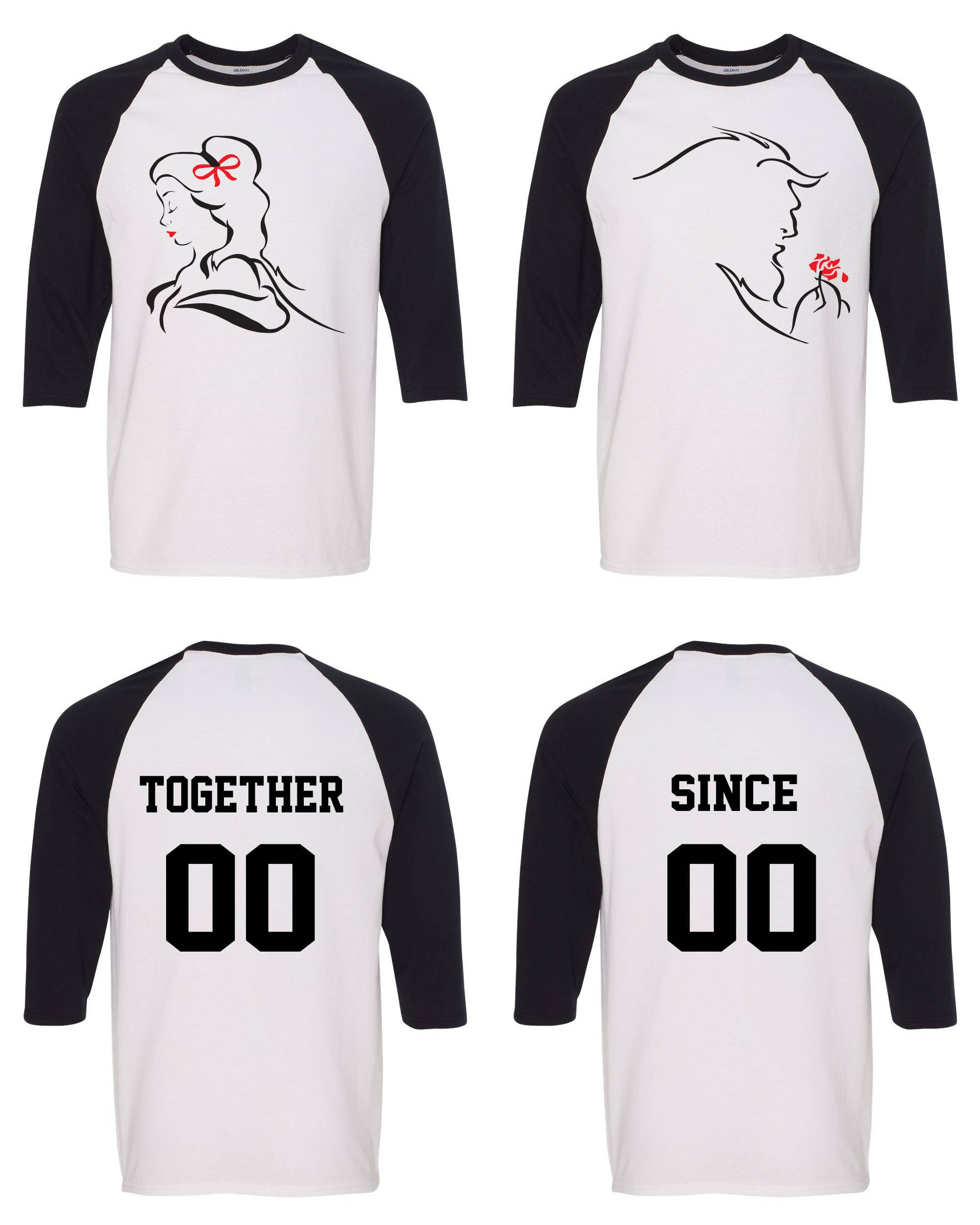 Her King His Queen Lion King Inspired Matching Couple Straight Fit Unisex Raglan Tee l His and Hers FYK9Kqu1
