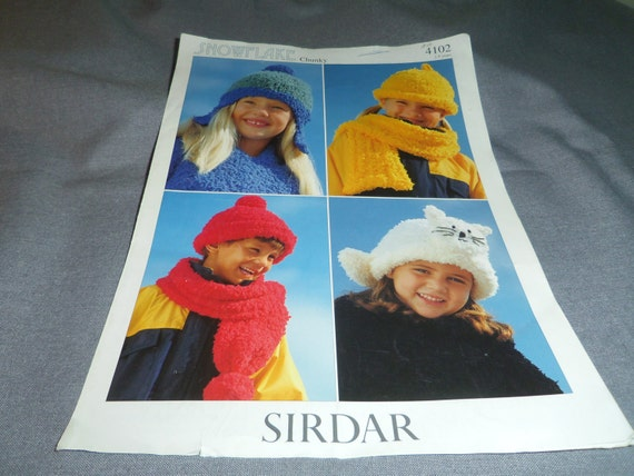 Knitting Patterns Childrens Hats Touques Scarves Kitten