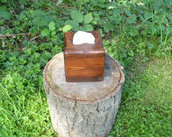 Rustic reclaimed pallet wood square tissue box cover red oak, repurposed, recycled, bathroom tissue, pallet