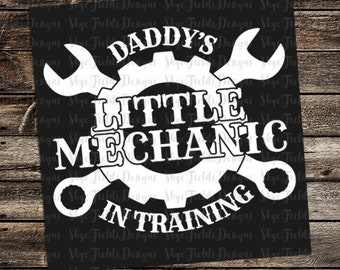 Daddy's Little Mechanic In Training SVG, JPG, PNG, Studio.3 -Silhouette, Cameo, Cutter, Cricut, Biker