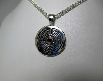 Circle Labyrinth Pendant