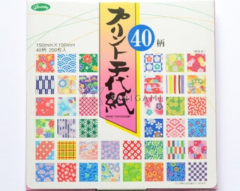 """Origami papers with japanese patterns 6"""" square. Scrapbooking, origami, decoration, wedding, birthday cards"""