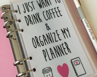 Just Coffee and Planner Personal Planner Dashboard