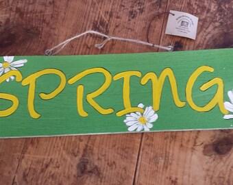 Handmade Spring/Summer Reversible Wooden Sign