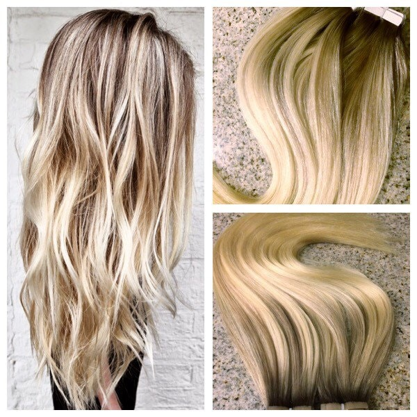 TX Tresses European Remy Double Drawn Highlighted Balayage