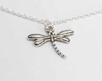 Silver Dragonfly Necklace/Dainty Dragonfly Necklace/Silver Dainty Dragonfly Necklace/Dainty Silver Dragonfly Necklace