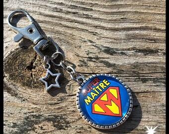 Super teacher keychain