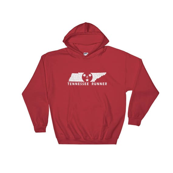 Tennessee Runner Hooded Sweatshirt - Unisex - Run Tennessee - Hoodie - Heavyweight Sweatshirt