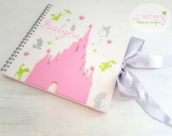 Guestbook square christening fairy tale - the moment C