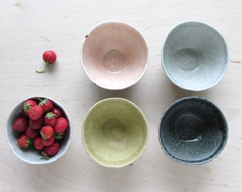 Pinched Striped Porcelain Bowl - Made to Order