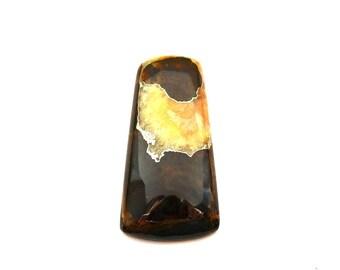Simbircite with pyrite natural stone cabochon  51 х 25 х 7 mm