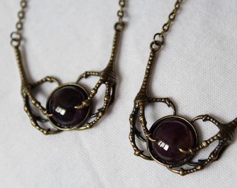 The Keeper - bronze - Amethyst - Raven claws