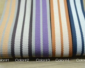 1.5 inch 38mm Heavy Duty Cotton Webbing, Striped Cotton webbing 01