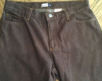 Brown Gap trouser flare jeans size 10
