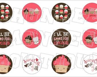 Made to Match Crazy 8 M2M cupcake fall favorites bottlecap image sheet